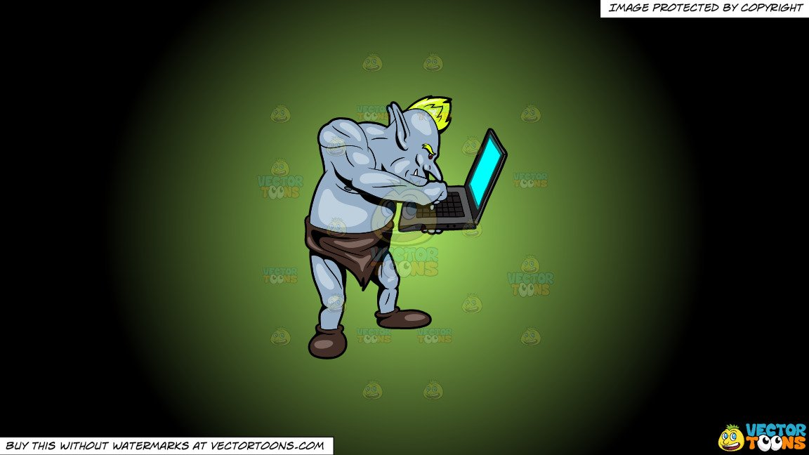 Replying clipart clip art library stock Clipart: An Internet Troll Replying To A Post On A Laptop on a Green And  Black Gradient Background clip art library stock