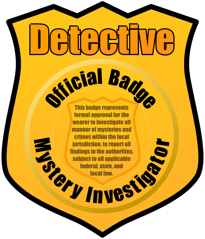 Report grades gold star clipart banner free library Detective Badge by eady - badge, clip art, clipart, detective ... banner free library