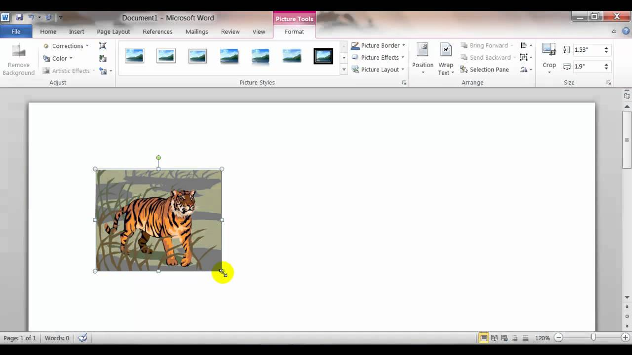 Reposition clipart jpg free Inserting, Sizing, and Moving Clip Art and Pictures in Word BC116a 2010 Wk3  Rd3 jpg free