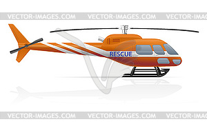 Rescue helicopter clipart image free stock Rescue helicopter - vector clipart image free stock