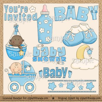 Reseller clipart png RESELLER Baby Shower (Blue) By Clipart 4 Resale - $6.99 ... png