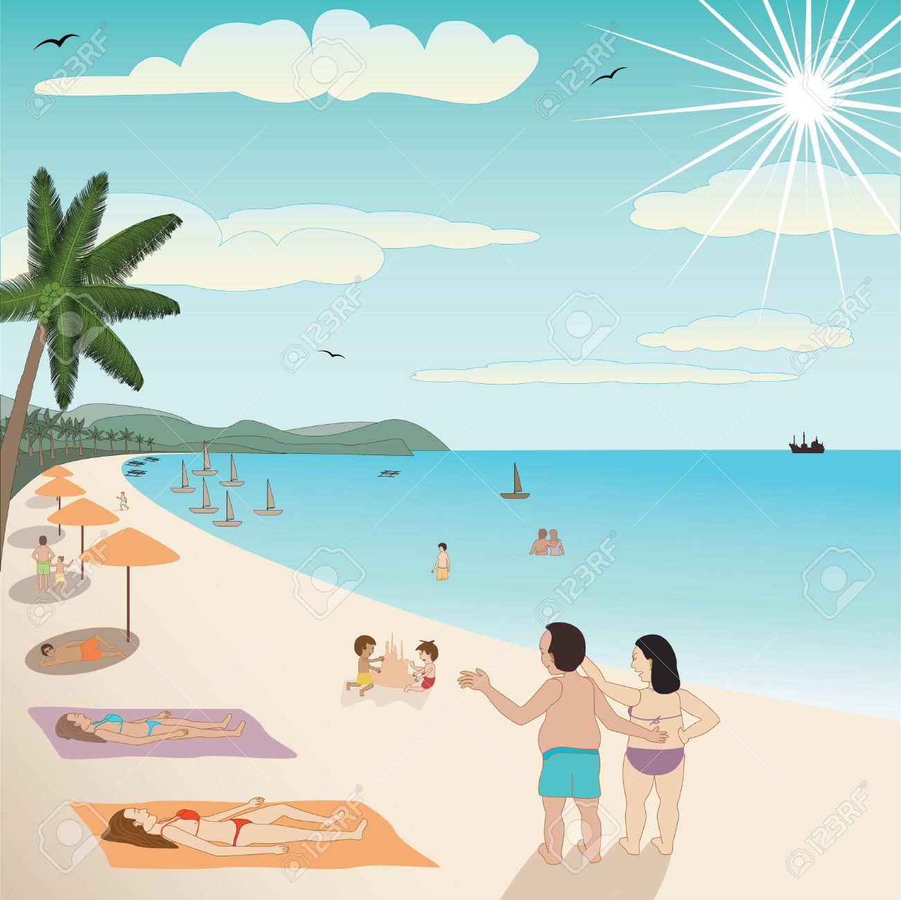 People at the beach clipart banner transparent download Free Resorts Cliparts, Download Free Clip Art, Free Clip Art ... banner transparent download