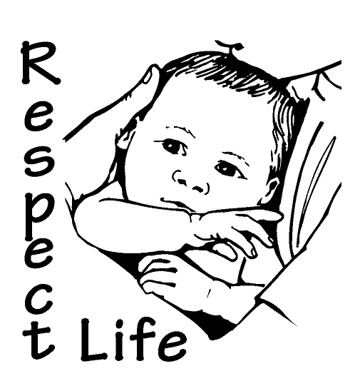Respect clipart black and white image freeuse library Respect Life Clipart #110015 - Clipartimage.com image freeuse library