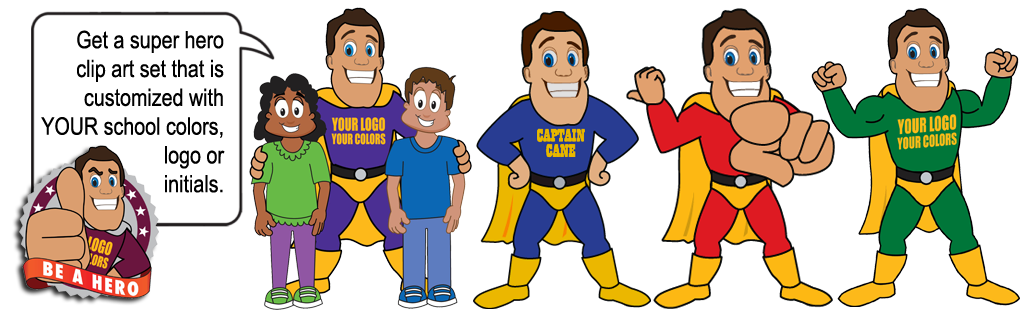 Responsibility clipart school clip royalty free download Super Hero Mascot - Mascot Junction clip royalty free download