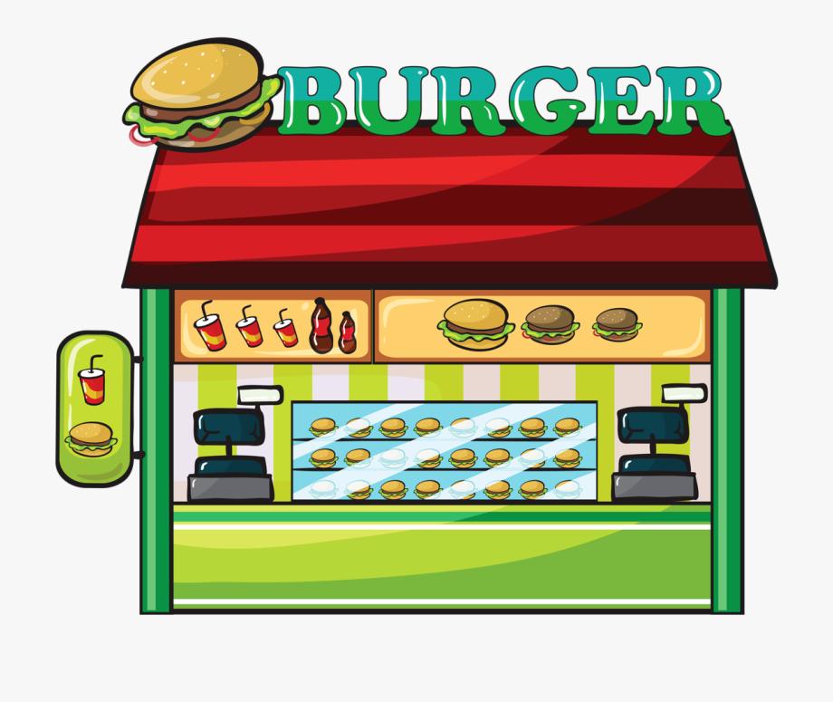 Restuarant clipart png royalty free download Fast Food Hamburger Clip Art - Fast Food Restaurant Clipart ... png royalty free download