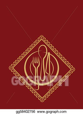 Restaurant menu design clipart vector freeuse EPS Vector - Restaurant menu design with red background-2 ... vector freeuse