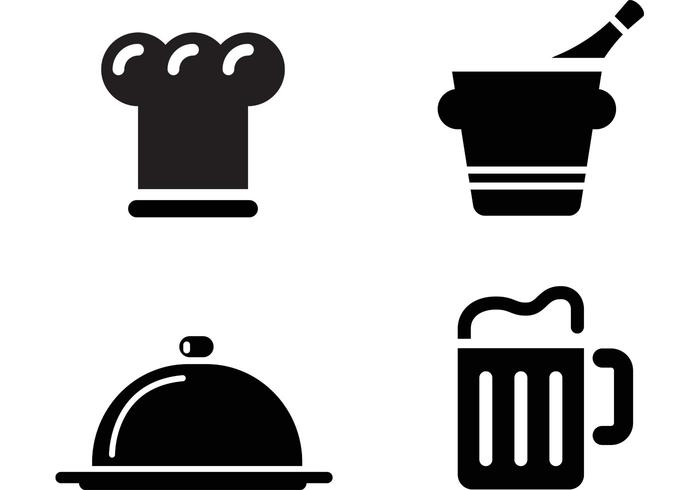 Restaurant symbols clipart free clip art black and white Restaurant Icon Vectors - Download Free Vectors, Clipart ... clip art black and white