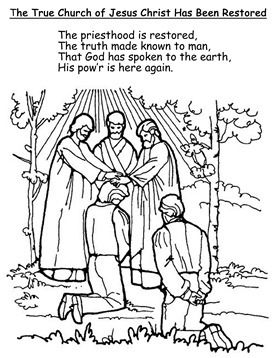Restored clipart clipart library download Restoration of the church, Coloring Page, Primary 3, Lesson ... clipart library download