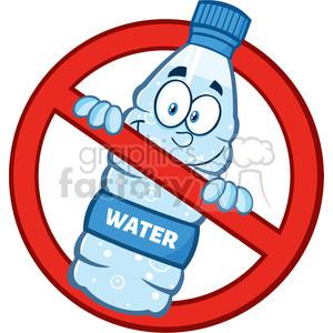 Restricted clipart banner royalty free royalty free rf clipart illustration restricted symbol over a water plastic  bottle cartoon imascot character vector illustration isolated on white . ... banner royalty free