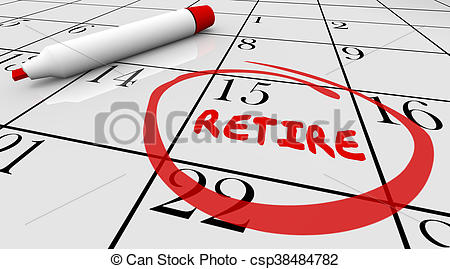 Retirement countdown clipart picture stock Stock Illustration of Retirement Day Date Circled Calendar ... picture stock