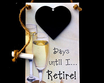 Retirement countdown clipart graphic Retirement countdown – Etsy graphic