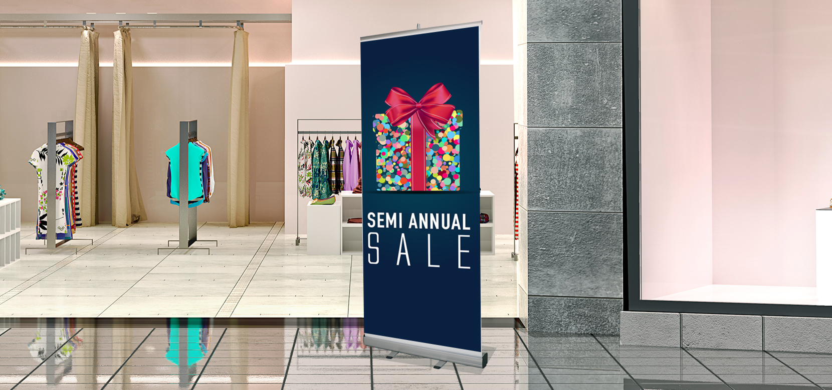 Retractable banner clipart picture freeuse download Economy Retractable Banner Stand, 78.7\