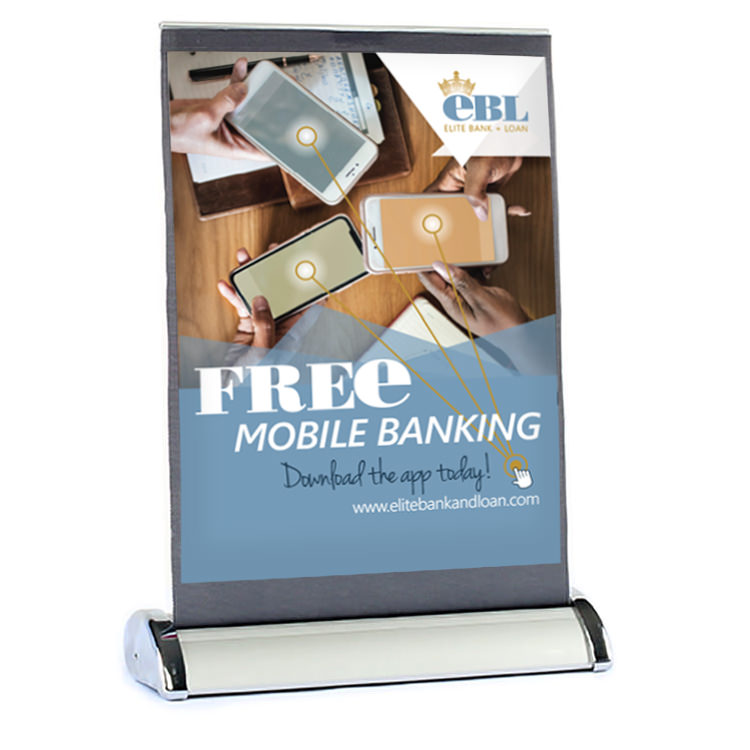 Retractable banner clipart banner transparent library Custom Printed Letter Size Table Top Retractable Banner Stand - banner transparent library