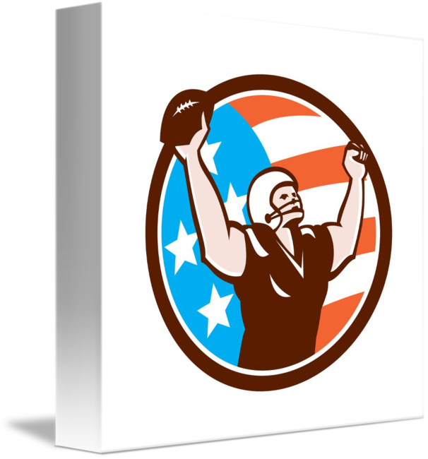 Retro basketball players clipart png royalty free download American Football Celebrating Touchdown Retro by Aloysius Patrimonio png royalty free download