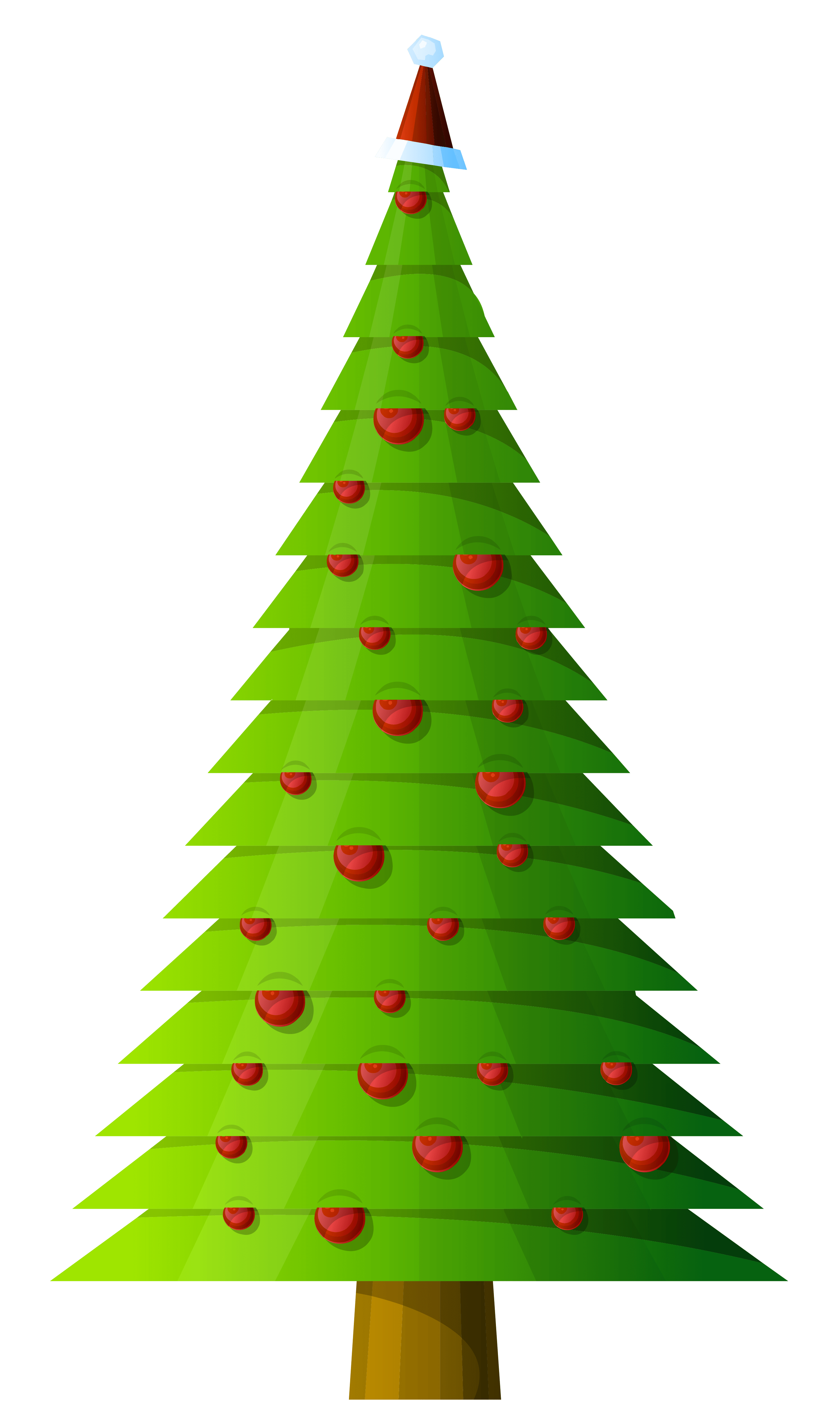 Modern Christmas Tree Clip Art – Merry Christmas And Happy New Year 2018 vector freeuse