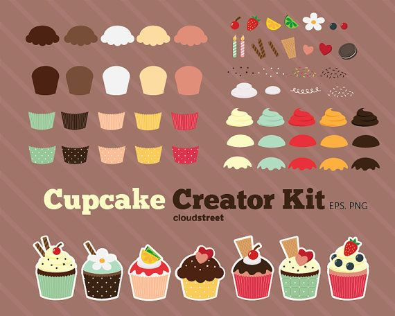 Retro clip art creator jpg royalty free download 17 Best images about Cupcake clip art on Pinterest | Clip art ... jpg royalty free download