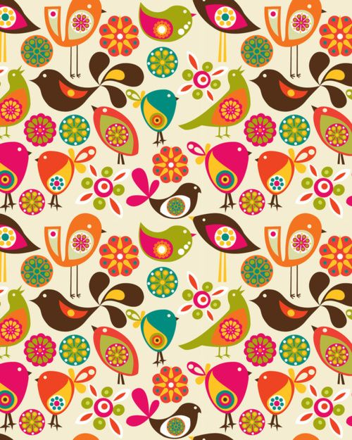 Retro clip art creator image royalty free library lovely colourful bird pattern. not sure who the creator is though ... image royalty free library