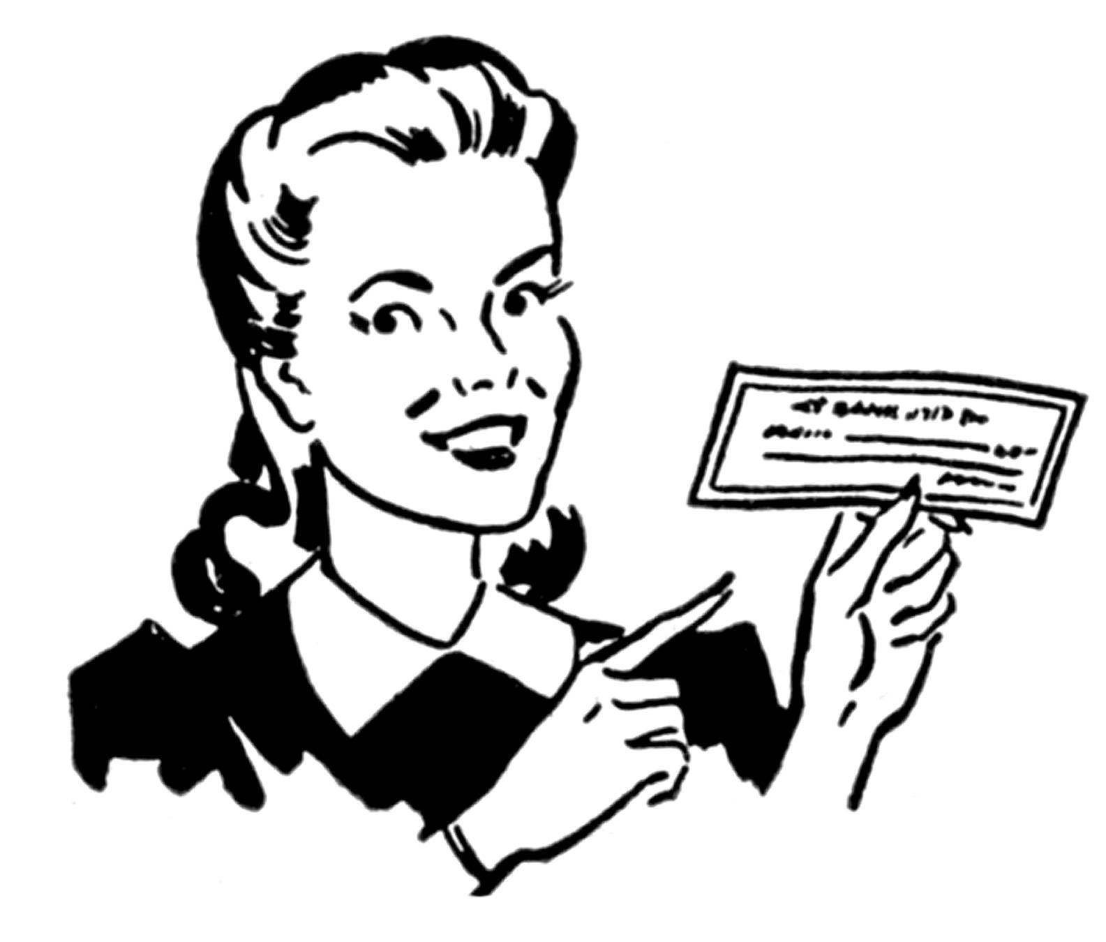 Retro clipart woman clip free Funny retro woman clipart - Cliparting.com clip free