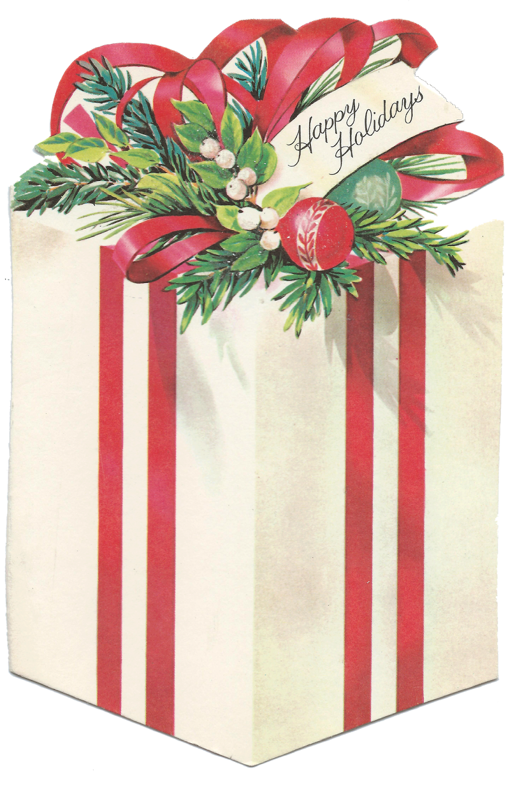 Retro gift box clipart png free stock Vintage Christmas Present, Gift, Package ~ Sweet Magnolias ... png free stock