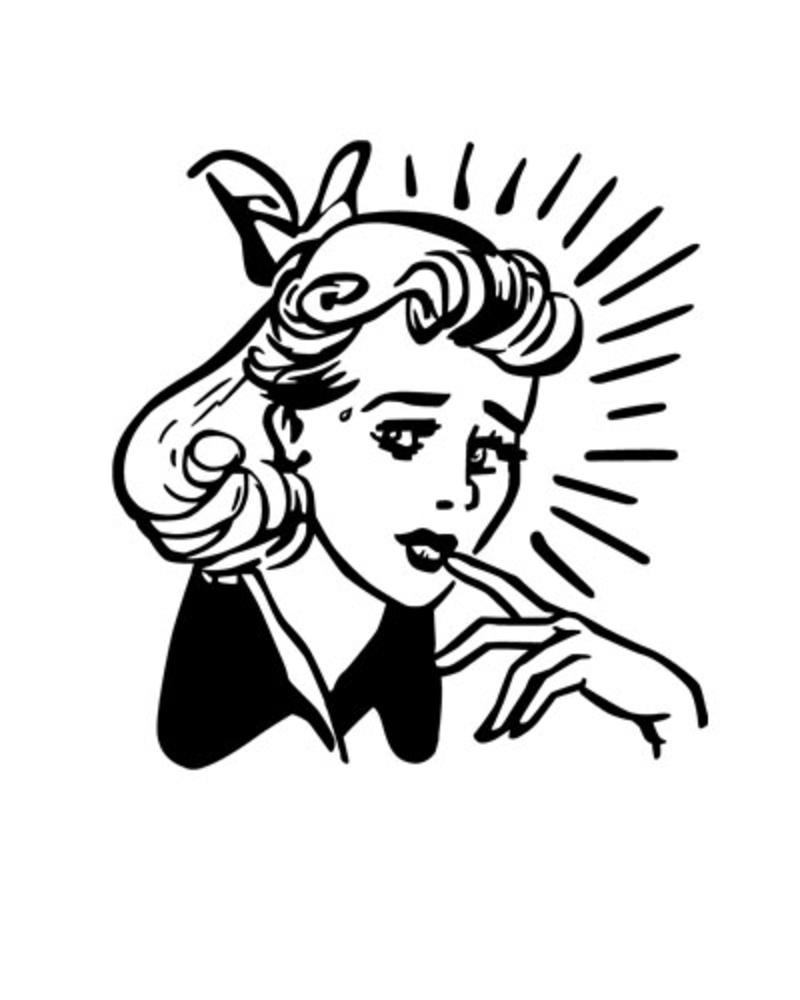 Retro lady clipart vector free stock Free Free Retro Clipart, Download Free Clip Art, Free Clip ... vector free stock