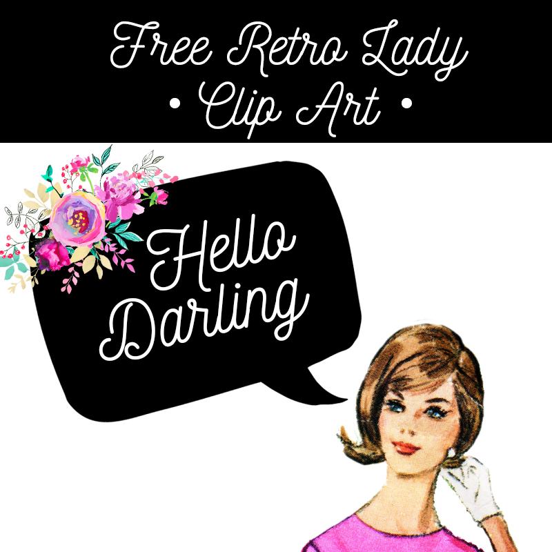 Retro lady clipart clip art free Free Retro Lady Clip Art - Free Pretty Things For You clip art free