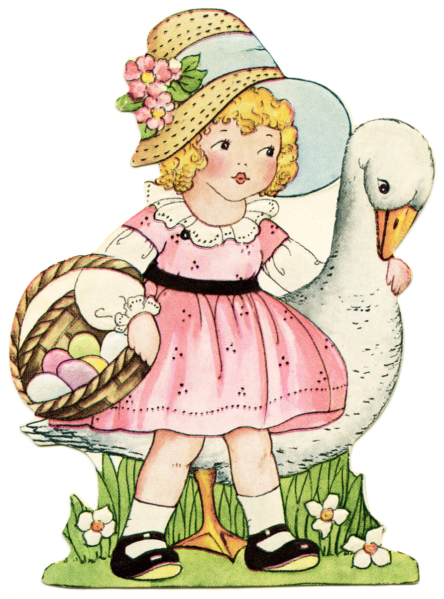 Retro little girl pink hat with flowers clipart cartoon graphic royalty free download Free Easter Hat Cliparts, Download Free Clip Art, Free Clip ... graphic royalty free download