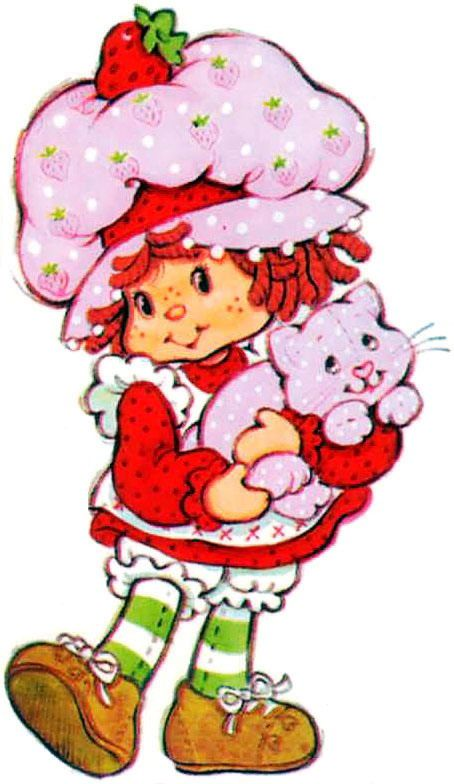 Retro little girl pink hat with flowers clipart cartoon vector free stock Strawberry Shortcake | BACK IN THE DAY WHEN I WAS YOUNG... I ... vector free stock