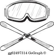 Ski goggles clipart