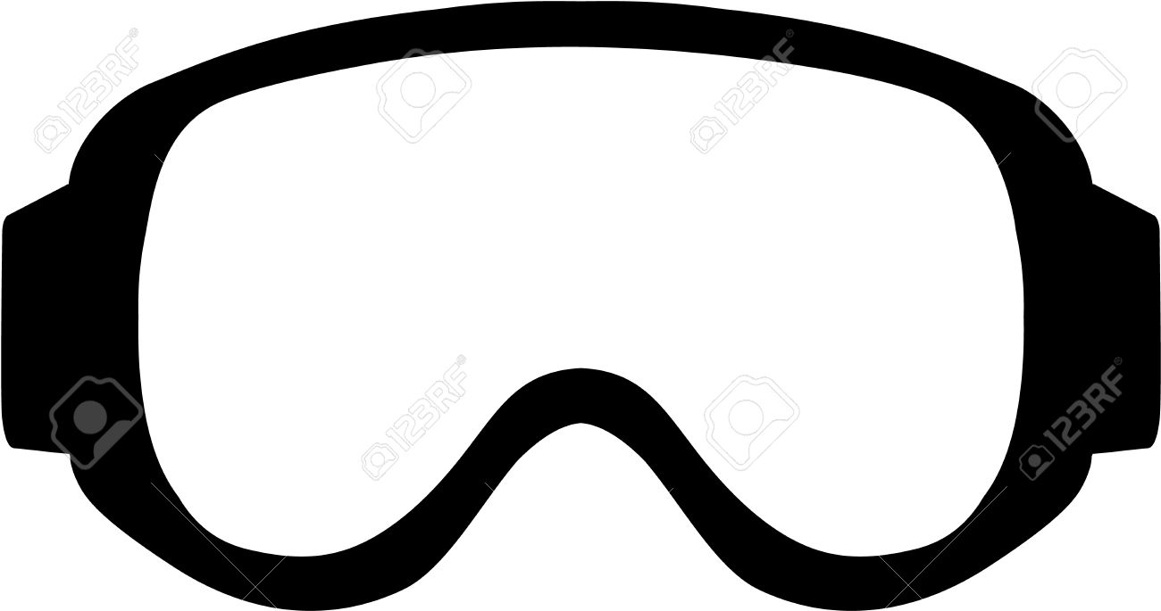 Retro ski goggles clipart image black and white stock Collection of Skiing clipart   Free download best Skiing ... image black and white stock