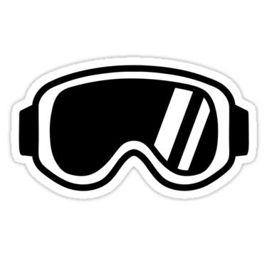 Retro ski goggles clipart image black and white download Skiing goggles\' Sticker by Designzz   Stickers in 2019 ... image black and white download