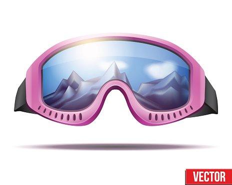 Retro ski goggles clipart graphic library download Classic Vintage Old School Pink Ski Goggles premium clipart ... graphic library download