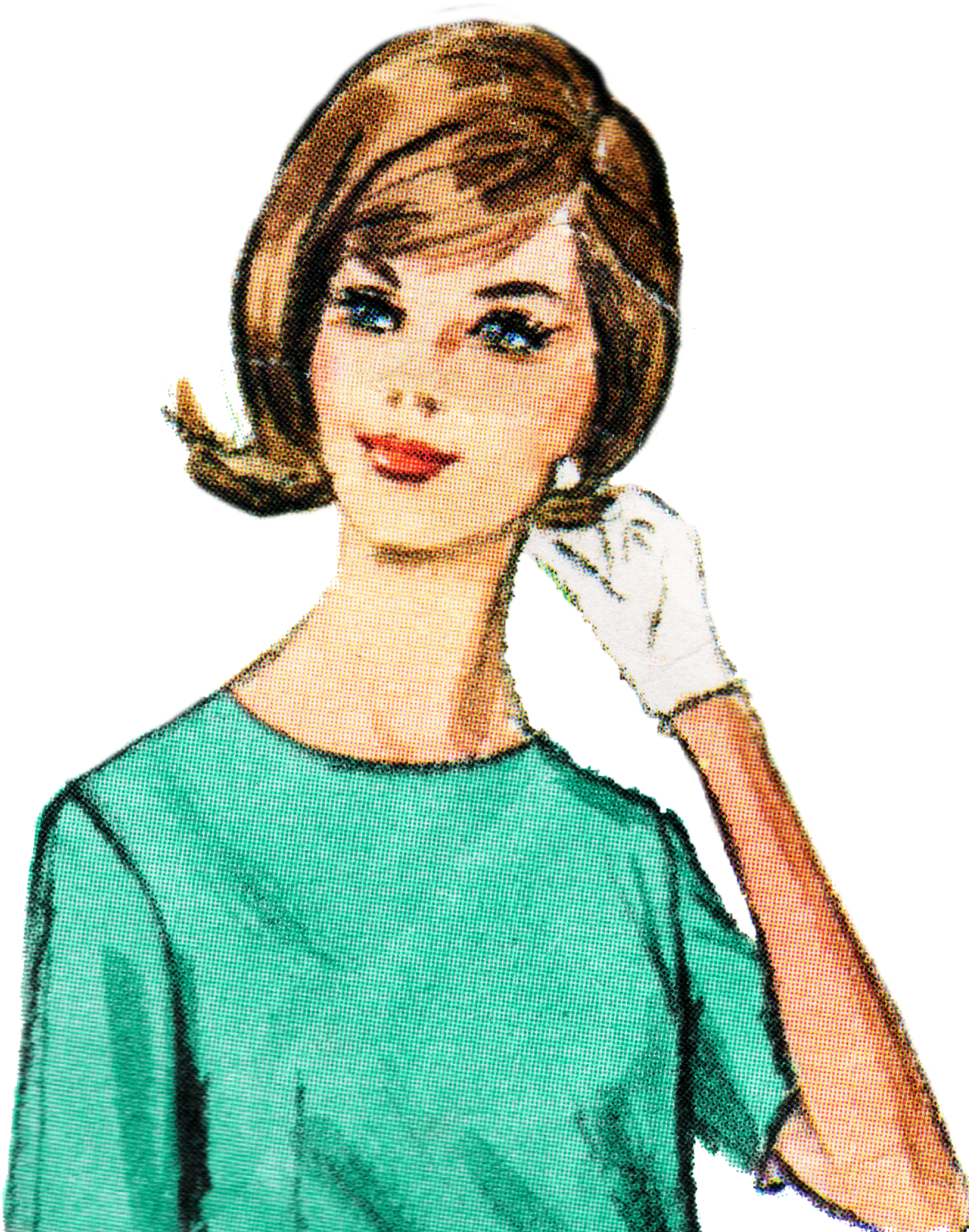 Retro woman clipart free image black and white stock Retro Lady Clip Art Free - Cartoon Retro Lady Png ... image black and white stock