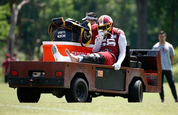 Reuben foster clipart banner free Redskins\' Reuben Foster carted off field with knee injury ... banner free