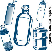 Reusable water bottle clipart picture freeuse download Water Bottle Clip Art - Royalty Free - GoGraph picture freeuse download