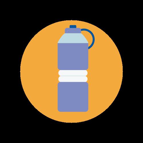 Reusable water bottle clipart image freeuse 2,500 water bottles - United Way California Capital Region image freeuse