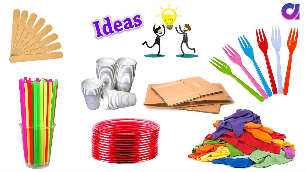 Trash items clipart graphic library download 10 New Amazing reuse old waste items around you | Best out of waste |  Artkala 348 graphic library download
