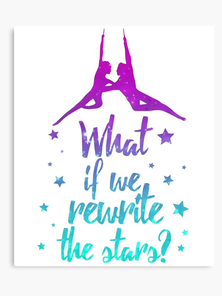 Rewrite the stars clipart clip art free library Greatest Showman Rewrite The Stars | Canvas Print clip art free library