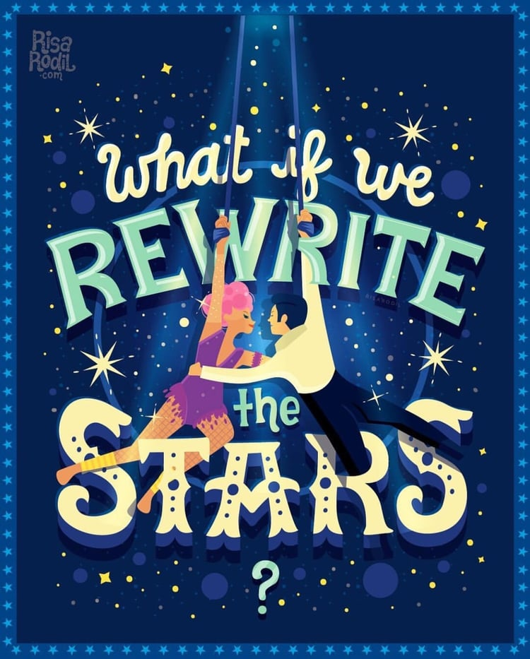 Rewrite the stars clipart vector black and white library What if we REWRITE THE STARS✨♥️ on We Heart It vector black and white library