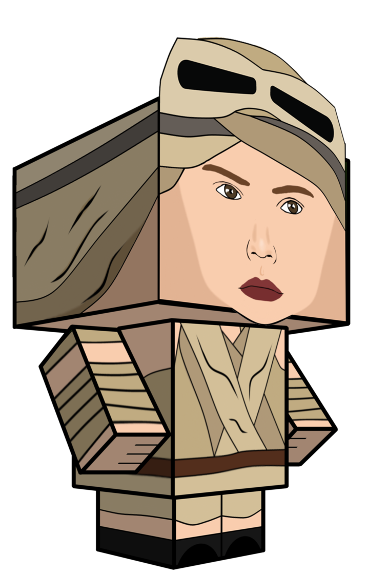 Rey star wars clipart jpg library library Rey Star Wars Cubeecraft by JagaMen on DeviantArt jpg library library