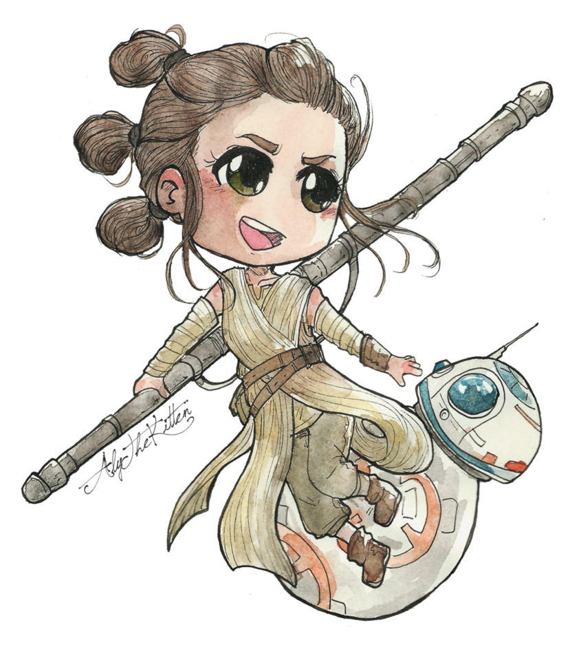 Star wars rey clipart picture freeuse stock Rey and BB8 by AlyTheKitten on DeviantArt picture freeuse stock