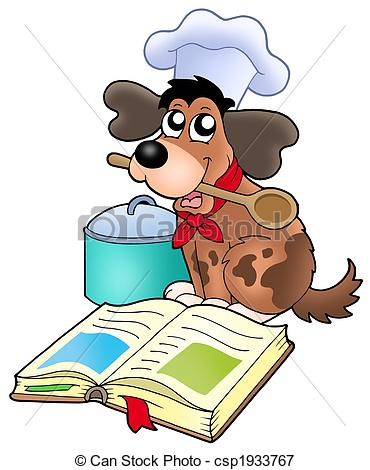 Rezepte bilder clipart svg freeuse Stock Illustrationen von küchenchef, Buch, rezept, hund, karikatur ... svg freeuse