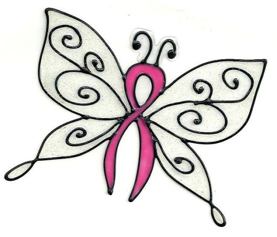 Ribbon butterfly clipart download Cancer ribbon butterfly clipart - ClipartFest download