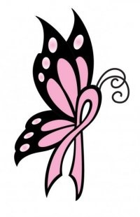 Ribbon butterfly clipart jpg transparent download 70 best ideas about Breast cancer on Pinterest | Clip art ... jpg transparent download