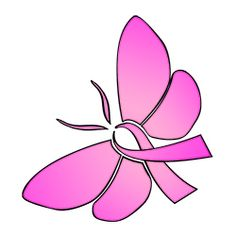 Ribbon butterfly clipart clip royalty free library Support the troop butterfly ribbon tattoo and Down Syndrome ... clip royalty free library