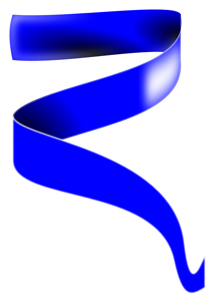 Ribbon clipart image black and white stock Blue Ribbon Clipart - Clipart Kid image black and white stock