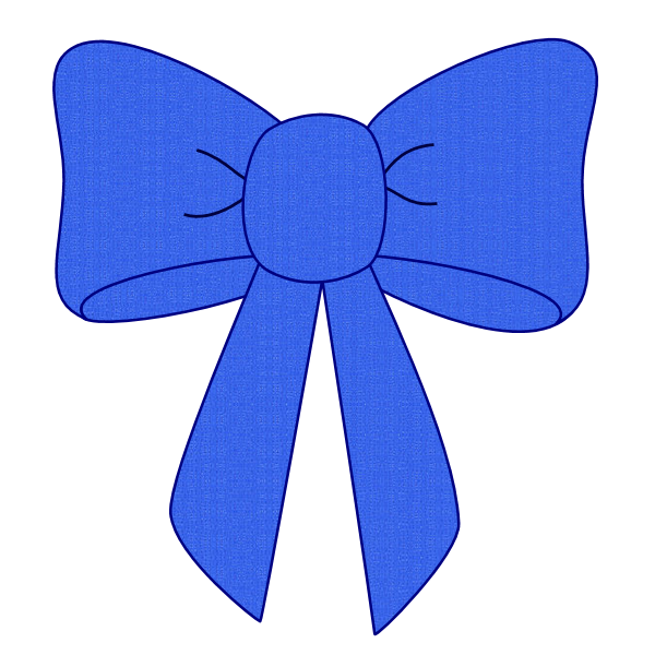 Ribbon clipart vector royalty free library Blue Bow Ribbon Clipart vector royalty free library