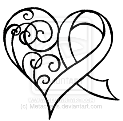 Ribbon clipart black and white upper and lower svg transparent stock Awareness ribbon with heart tattoo idea. My ribbon would be ... svg transparent stock