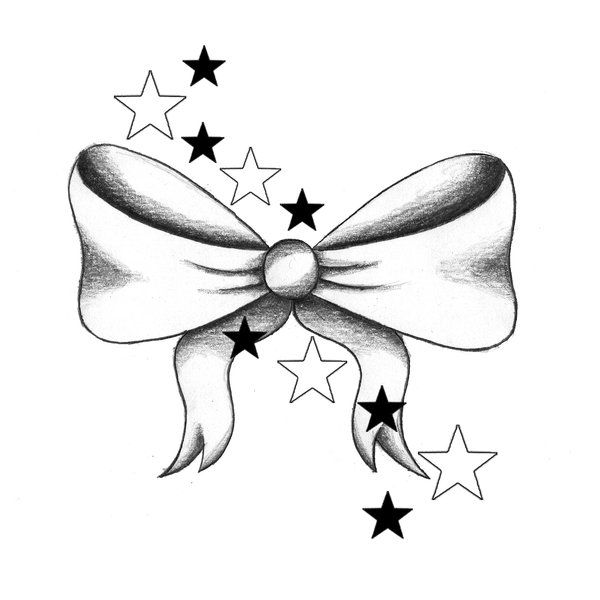 Ribbon clipart black and white upper and lower picture royalty free stock I want a bow tattoo... perhaps on the back of my neck ... picture royalty free stock