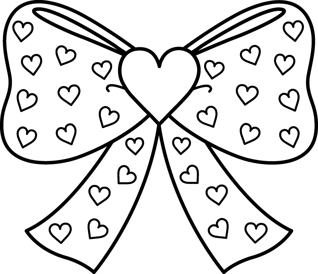 Heart With Ribbon Drawing at GetDrawings.com | Free for personal use ... clipart transparent