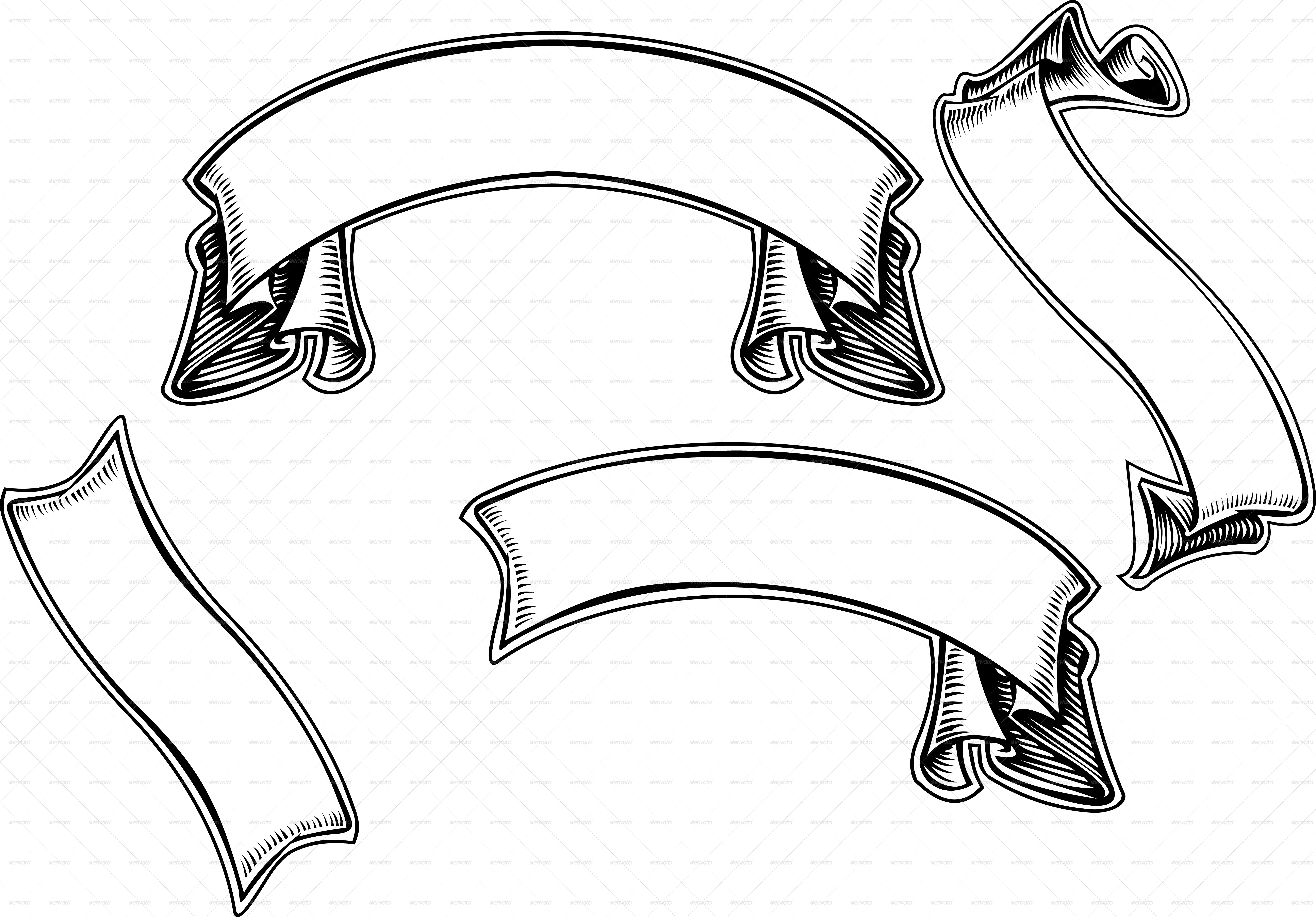 Ribbon scroll clipart vector library stock Free Scroll Banner, Download Free Clip Art, Free Clip Art on ... vector library stock